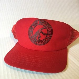 New Era Dupont Visor Snapback Mesh Trucker Hat Red